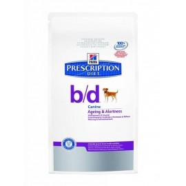 Hill's Prescription Diet Canine B/D Nourriture pour Chien Sac de 12kg