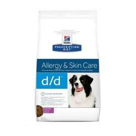 Hill's Prescription Diet Canine D/D Troubles Urinaires Nourriture pour Chien Croquettes 12kg Canard et Riz