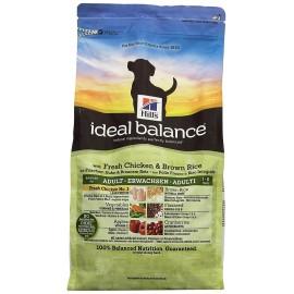 Hill's Ideal Balance Canine Nourriture pour Chien Adulte Croquettes 12kg Poulet frais et Riz brun