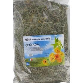 Foin aux plantes : Ortie et Souci - 500 g