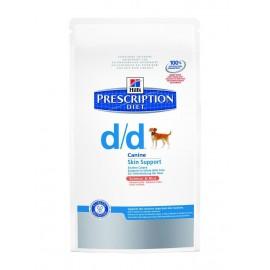 Hill's Prescription Diet Canine D/D Troubles Urinaires Nourriture pour Chien Croquettes 12kg Saumon et Riz