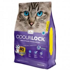 """Litière Odour Lock - parfum """"champ de lavande"""" - 12kg"""